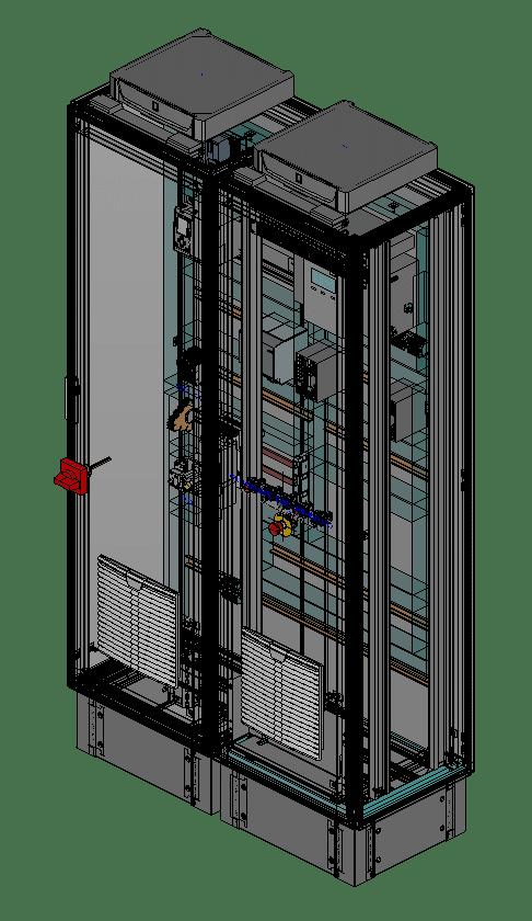 """CPU-Schrank mit Rackschienen (19"""") für Switches und Patchpanels"""