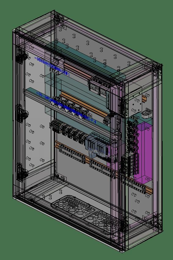 Sonderlösung einer dezentralen Peripherie in einem Kunststoff-Kompaktschrank