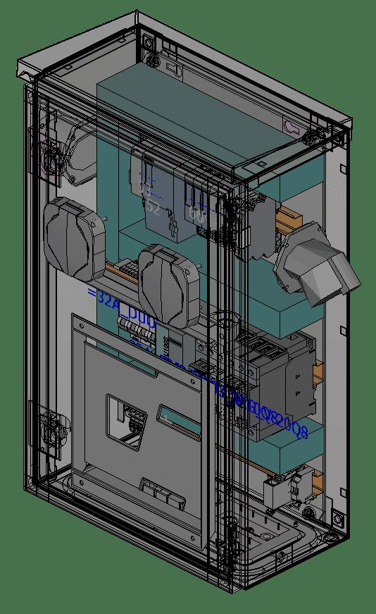 Dezentrale Walbox (Ladestation)
